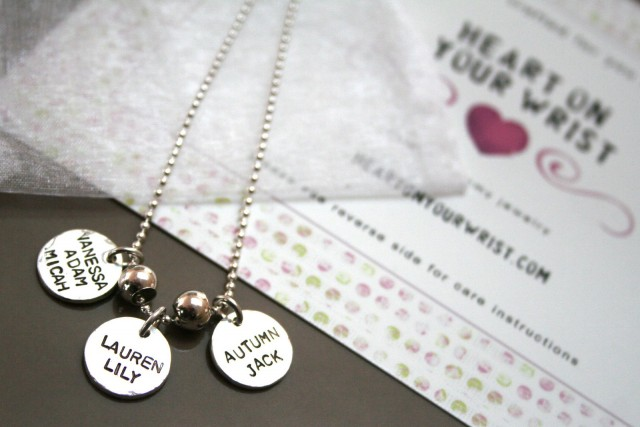 charm stamped necklace