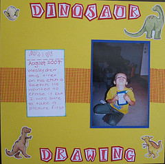 Scrapbooking Your Children's Memories, Papers and Drawings momspark.net