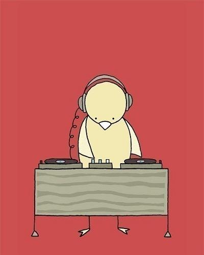 Bird Spinning Vinyl print