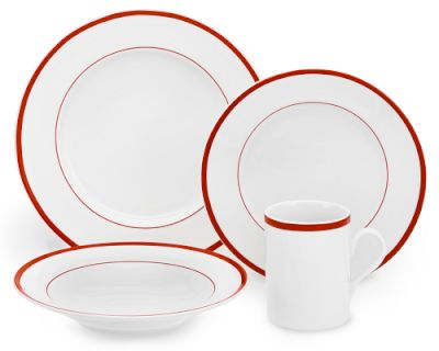 Brasserie dinnerware via Williams Sonoma