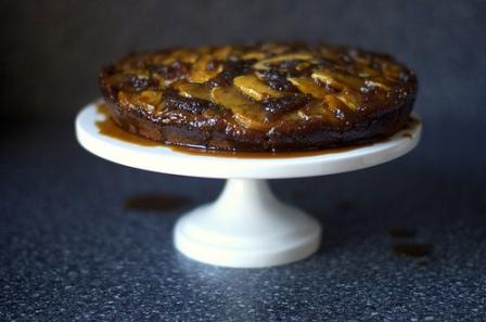 Gingerbread Apple Upside-Down Cake via Smitten Kitchen