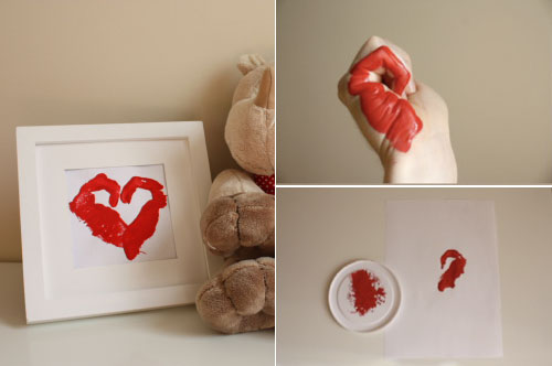 Heart Hand Stamps Valentine's Day
