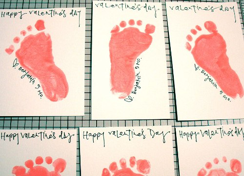 Footprint Valentine's Day Craft