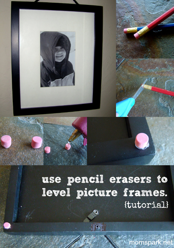 Pencil Erasers for Picture Frames
