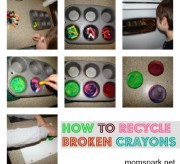 how to recycle broken crayons