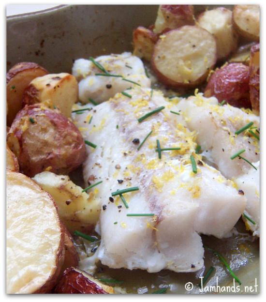 Roast Cod with Crisp Potatoes Recipe