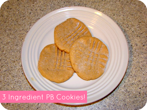 easy 3 ingredient peanut butter cookie recipe momspark.net eggs sugar