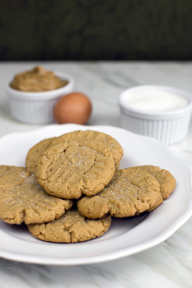 Peanut Butter Cookies Using 3 Ingredients - Eggs, Sugar & PB