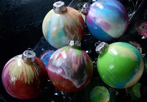 Paint Ornaments Christmas Craft DIY