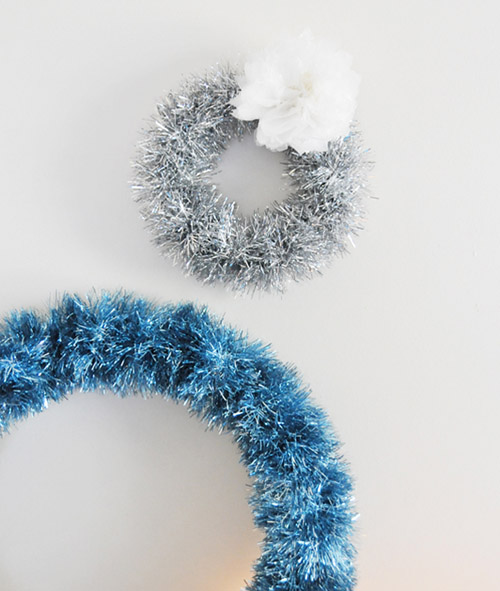 Christmas Garland Wreath Tinsel DIY Craft