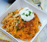 Easy Cheesy Mexican Dorito Casserole Recipe - Every once in a while I get a certain craving for ultra comforting, delicious and easy to make food. This recipe for Mexican Dorito Casserole fits the bill. I'm not gonna lie, it is not in any way healthy, but it isn't the sort of thing you make regularly. For a special treat and to fulfill a craving, it certainly hits the spot. Check out the recipe below and the how-to video at the end of this post!
