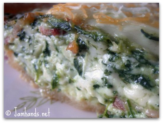 Easy Spinach, Bacon and Swiss Quiche Recipe