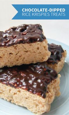 Easy Chocolate Dipped Peanut Butter Rice Krispies