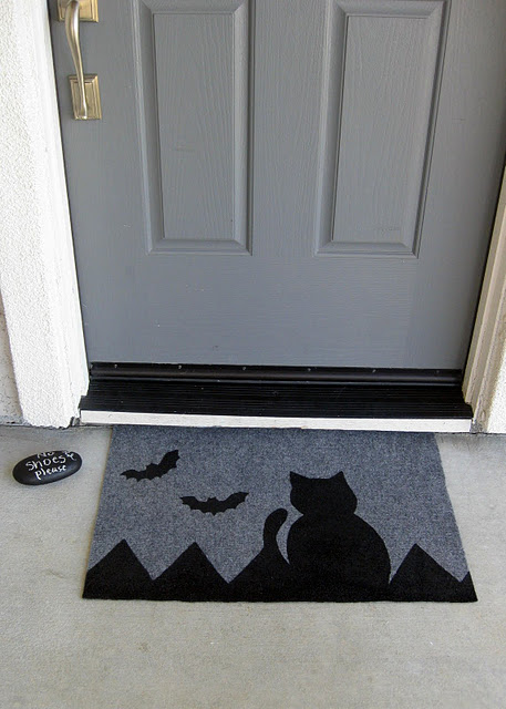 Halloween DIY Painted Doormat