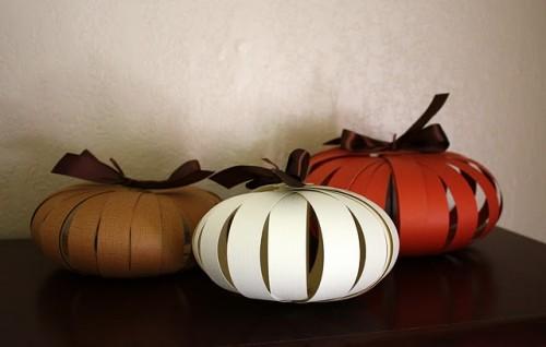 Paper Pumpkins DIY Halloween