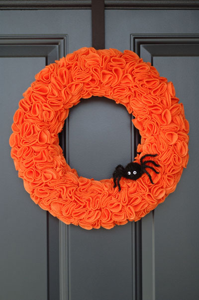 Felt Wreath Halloween DIY
