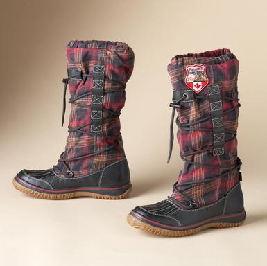 plaid flannel boots