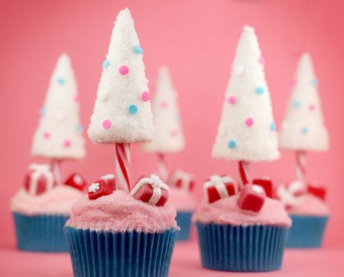 Candy Cane Christmas Tree Cupcakes Recipe