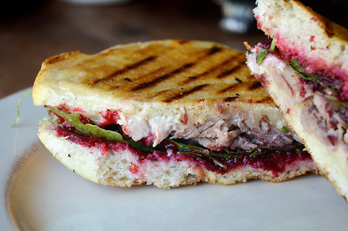 Cranberry-and-Turkey-Panini Leftover Turkey Recipe