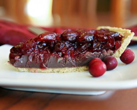 Dark Chocolate Cranberry Pie