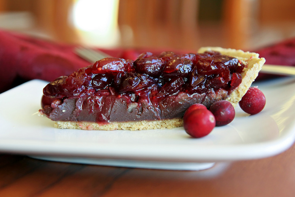 Dark Chocolate Cranberry Pie Recipe
