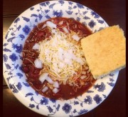 Simple Chili and Cornbread