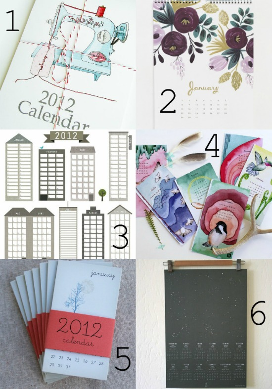 New Calendars For A New Year DIY