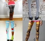 fashion friday printed tights