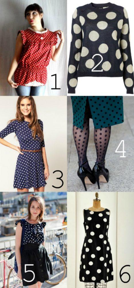 polka dot women's fashion shirt blouse dress tights hose