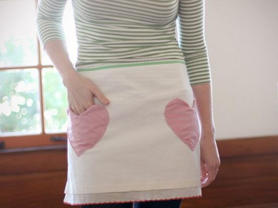 Valentine's Day apron