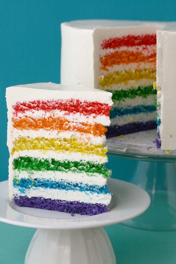 St. Patrick's Day Epic Rainbow Cake Dessert Recipe