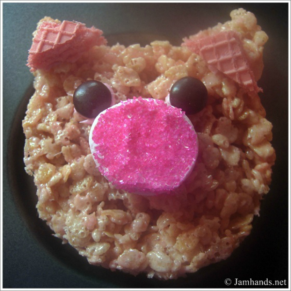 Easy Piggy Rice Krispies Treats Recipe