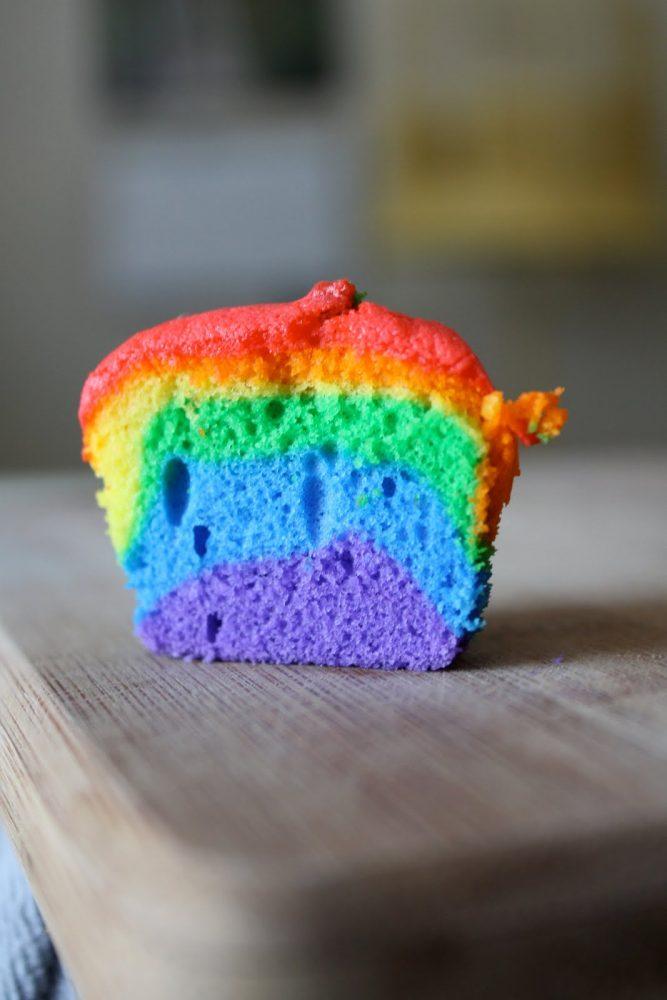 St. Patrick's Day Rainbow Cupcake Dessert Recipe