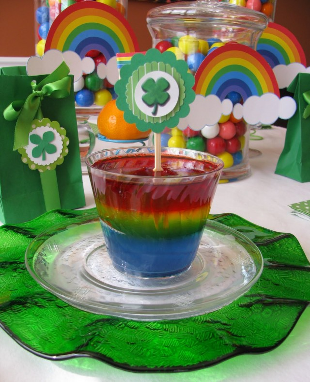 St. Patrick's Day Rainbow Jello Dessert Recipe