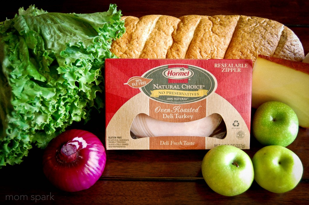 Apple and Smoked Cheddar Turkey Sandwich on Toasted Wheat French Bread ...