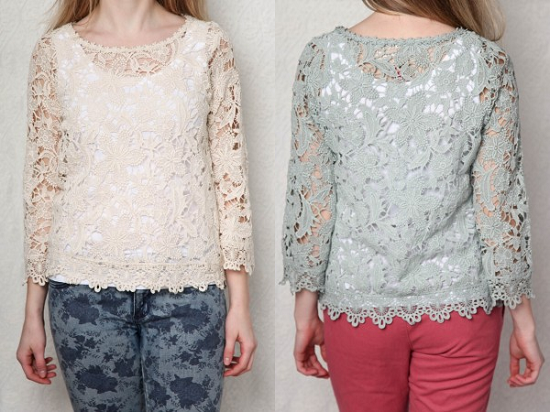 lace shirt blouse fashion
