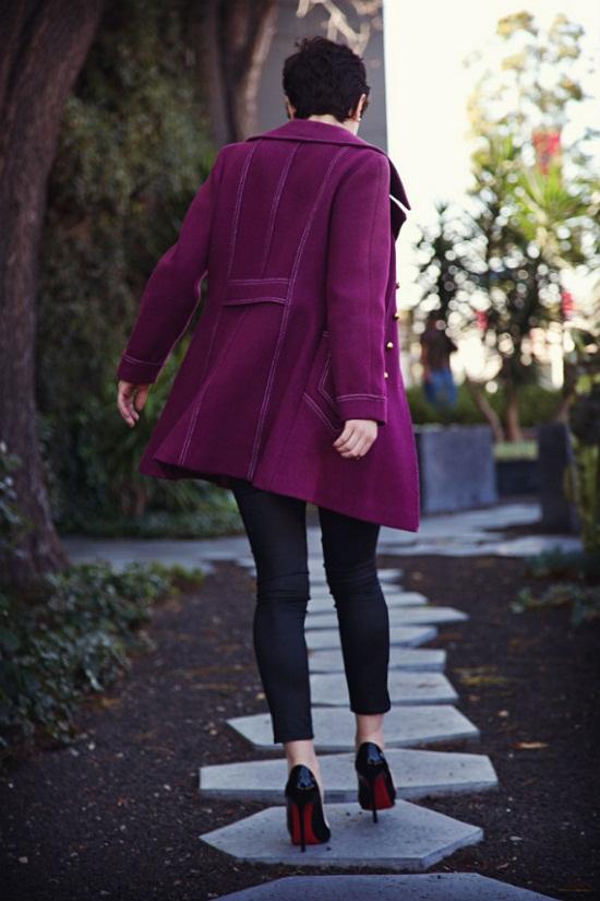 purple jacket coat fashion