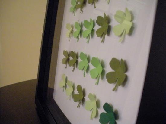 St. Patrick's Day Four Leaf Clover Craft