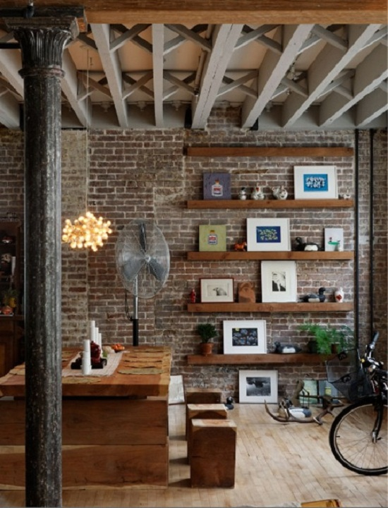 Exposed Brick Wall Decor