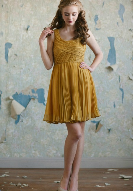 mustard yellow formal dress