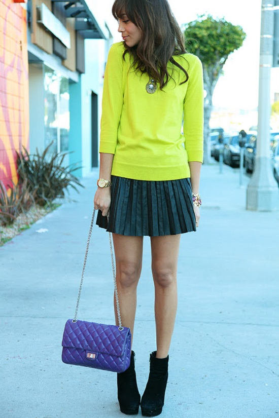 neon green blouse shirt