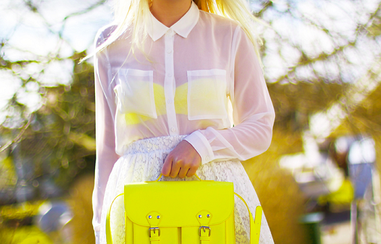 neon yellow purse fashion