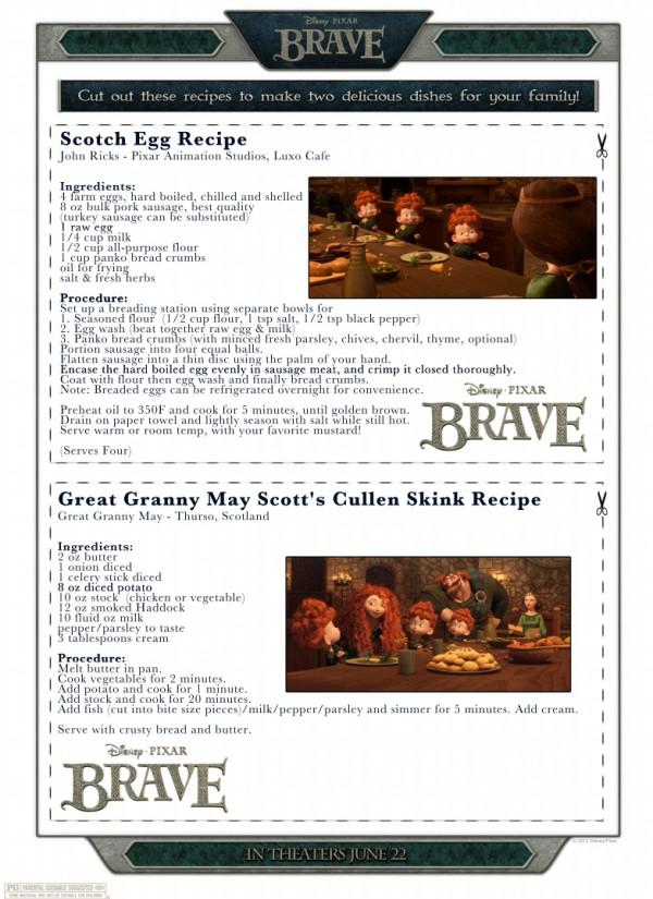 Disney/Pixar Brave Recipes