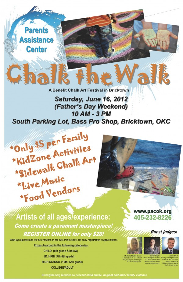 Chalk the Walk Poster Oklahoma City momspark.net