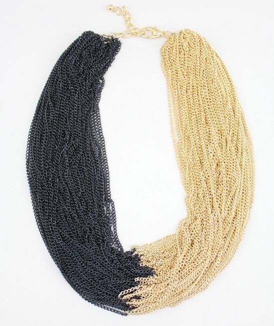 black white bead necklace jewelry