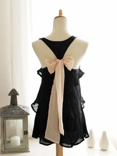 black dress bows on back