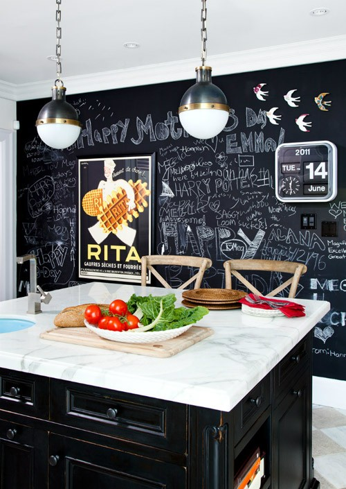 chalkboard paint decor in home kitchen