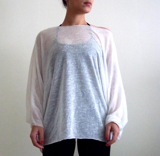 oversized flower blouse shirt women's white