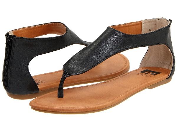 black sandals fashion