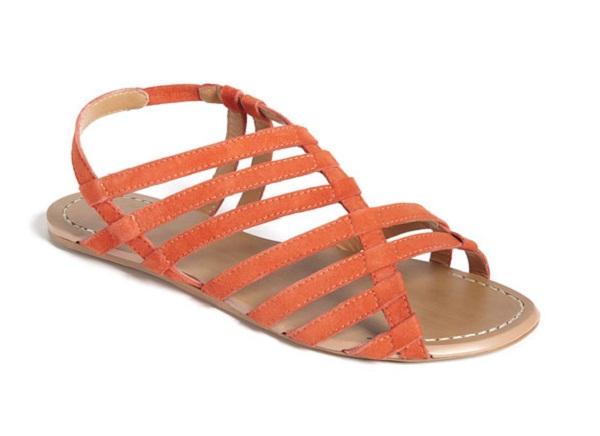 orange sandals fashion